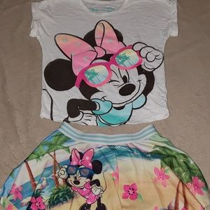 Minnie Mouse skort and t-shirt set